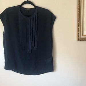 {J. Crew} 🔷 pleated top